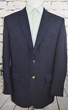 Irvine Park Men's Blazer Blue w Gold Buttons Career Sport Coat Blazer Size 44 R