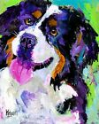 Bernese Mountain Dog Art PRINT from Painting   Berner Gifts, Poster 8x10