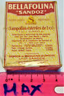 BELLAFOLINA NEW BOX 1924 AMPOULE vintage SANDOZ Albert Hofmann