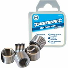 Silverline 435675 Helicoil Type de fil Insertsm6 x 1.0mm 25pk