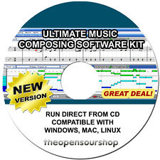 Professional Music Composing Software Package CD - Learn To Make Music At Home