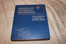 Materials and Processes in Manufacturing 7th Edition DeGarmo, Black, Kohser HB