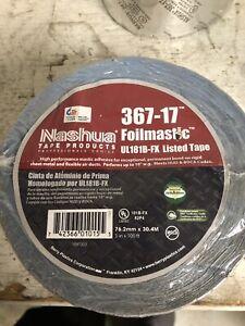 Nashua FoilMastic Butyl Rubber Sealant Tape 3 in. x 100 ft. Silver, 367-17