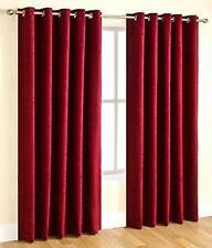 New Polyester 2 Piece Door Curtain Set - Maroon, 4 x 7 ft