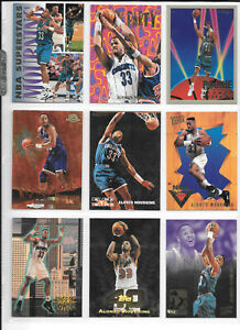 Alonzo Mourning 96 Card Lot Hornets Heat 90s Inserts RC Stadium Club Refractor
