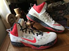 Nike ID Zoom Hyperfuse 2014 Mens Size 14 White / Black Red Basketball Shoes EUC