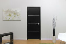 """30"""" x 80"""" BLACK ASH MODERN INTERIOR WOOD DOOR WITH FRAME INCLUDED NON PRE-HUNG"""