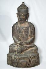 Antique Wooden Buddha Statue 70cm Tall 18th to 19th Century