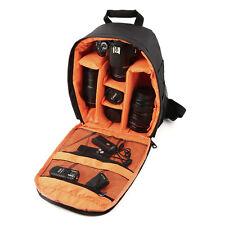 Waterproof Camera DSLR Lens Backpack Case Bag Adjustable Padded Divider REJV