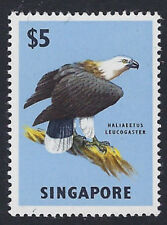 BIRDS : SINGAPORE 1963 $5 Sea Eagle SG 77 MNH