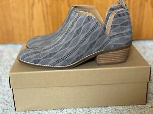 Lucky Brand Womens Lk-Fayth2 Titanium Ankle Boots Size 8.5 (1438720)