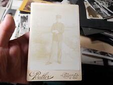Vict Cabinet Photo, Teenage Boy In Military Uniform, Salinas, California