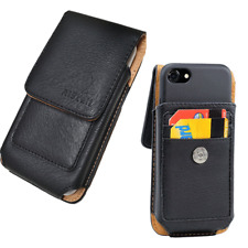 Plus Size Vertical Leather Pouch Case Holster For Samsung Galaxy J3/Amp Prime