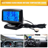 Car Digital Display With Clock In/Out Thermometer Calendar Function Luminous New
