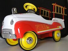 Red Fire Truck Pedal Car Ford 1950s Custom Vintage Classic Midget Model