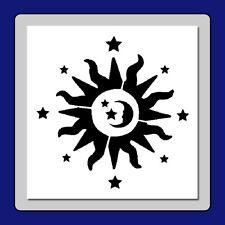 7 X 7 Celestial Sun, Moon and Stars Craft STENCIL Cosmic/Astrology/Zodiac