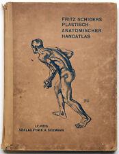 Fritz Schiders Plastisch-Anatomischer Handatlas; Franz Stuck Illustrations, 1929