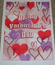 "Valentines Day Indoor Outdoor Mini Yard Flag 18""x 24"" New"