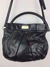 Marc Jacobs Womens Classic Leather Q Hillier Hobo Shoulder Bag CORDOVAN Black