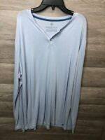 Free Fly Womens Oversized Size XL Blue Long Sleeve Henley Shirt Bamboo NWOT