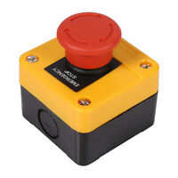 660V 10A Latching Emergency Stop Push Button Red Mushroom Switch 1NO + 1NC DPST