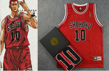 Slam Dunk Shohoku #10 Basketball Sakuragi Jersey Costume Cosplay Embroidered
