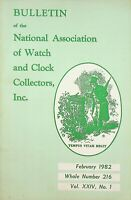 Bulletin of the National Association of Watch & Clock Collectors Feb 1982 m1236