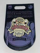 Disney Parks Pin Food & Wine Festival Epcot 2020 Mickey Minnie Mouse Passholder