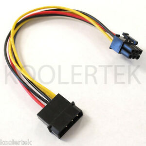 4 Pin Molex to 6 Pin PCI-Express PCIE Video Card Power Converter Adapter Cable