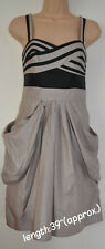NEXT Summer Ladies Girls Dresses Size 10 12 16 20 22 Grey Cream 16