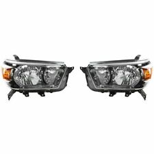 2010 - 2013 TOYOTA 4RUNNER TRAIL HEADLIGHT LAMP PAIR W/BLACK RIGHT & LEFT SET