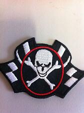 Iron On Patch - Skull Flag Crossbones