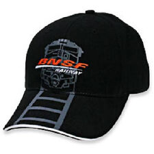BNSF Railway Cap (Railroad Crossing Cap) baseball cap  Black/White   *NEW
