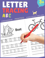 Letter Tracing Practice Book for Preschoolers Kids Ages 3-5 Workbook ABC Words