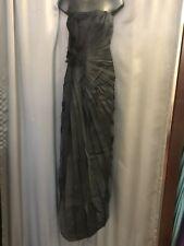 "NWT $1195 -Badgley Mischka- Black Silk ""Gemma"" Strapless Long Gown  -Sz 12"