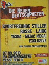 STILLER - BOSSE - LAING  2013    orig.Concert - KONZERT - TOUR - Poster BERLIN