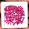 150 Pcs 2mm Unheated Natural Ruby Finest Sparkling Red Square Cut Gems