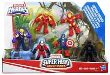 MARVEL SUPER HERO ADVENTURES AVENGERS 6 PACK BLACK PANTHER ANT MAN HAWKEYE IRON
