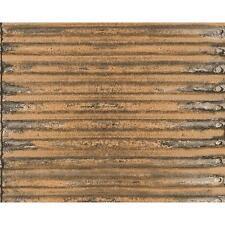 AS Creation Corrugated Iron Metal Wallpaper Stripe Realistic Textured 307562
