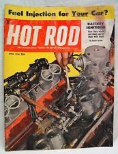 HOT ROD MAGAZINE APRIL 1955 FUEL INJECTION NEWS VINTAGE CARS AUTOMOBILES