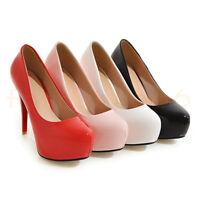 OL Pumps Damen Platform High Heel gr.33-44/45 Slipper Schuhe Rund Stietto Sexy