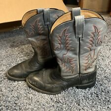 Ariat ATS Mens Western Boots Size 7.5B Black And Grey Leather Style 29401