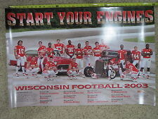 (1) 2003 UNIVERSITY OF WISCONSIN BADGERS 2003 FOOTBALL TEAM SENIOR POSTER 36X24