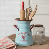 Red Rooster Kitchen Caddy Pitcher Unique Decorative Farmhouse