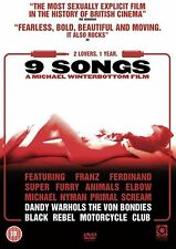 9 Nine Songs (2005) Kieran O'Brien, Margo Stilley BRAND NEW AND SEALED UK R2 DVD