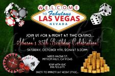 Las Vegas Adult Gamble Casino 21 Bash Birthday Invitation