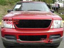 Fits 2002-2005 Ford Explorer Black Billet Grille Combo