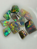 -Australian Opal ROUGH L/R TOP GEM GRADE SUPER CLEAN BRIGHT RUBS 8.6cts WE1008