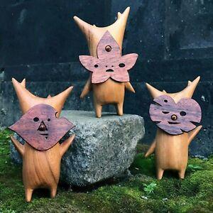 Forest Wizard Wooden Breath Of The Wild Garden Leaf Elves Crafts Wooden Grain