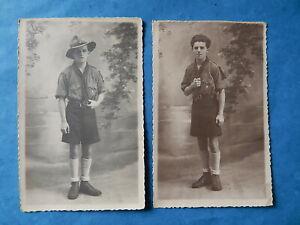 LOT DE 2 CARTE POSTALE PHOTO SCOUT SCOUTISME MARSEILLE GIRAUD  1942